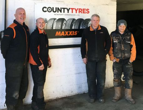 county tyres staff photograph