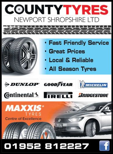 County Tyres advert