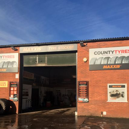 county tyres store front
